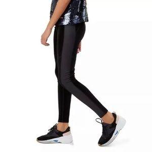 NWT Sweaty Betty velvet tuxedo leggings black S